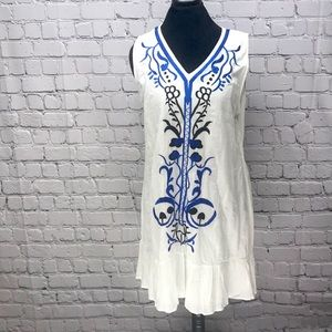 Embroidered sun dress-size L